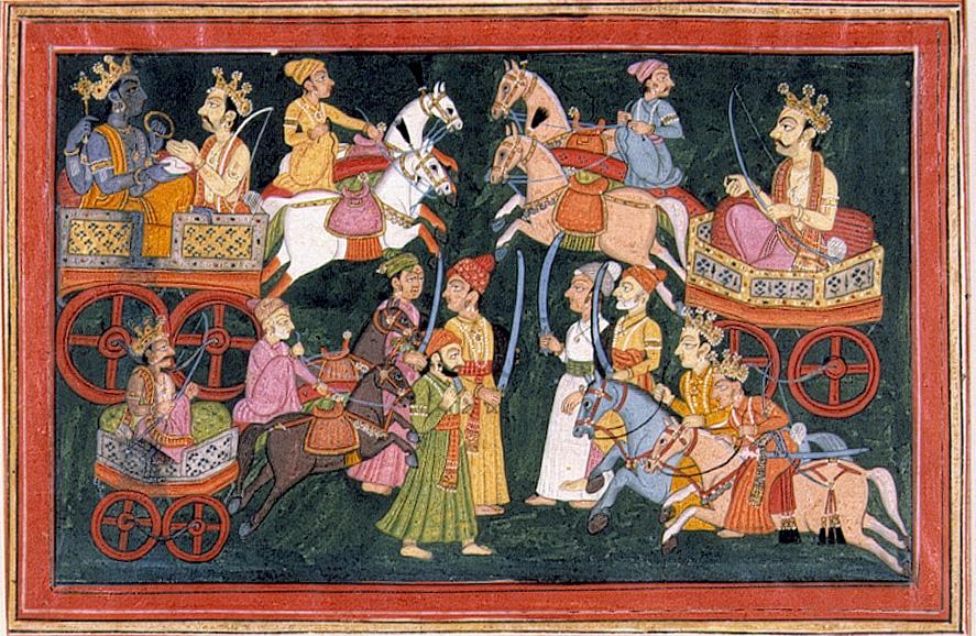 Vishnu in a Chariot with Arjuna - Flickr 6124526823_1dfbb5a92c_o